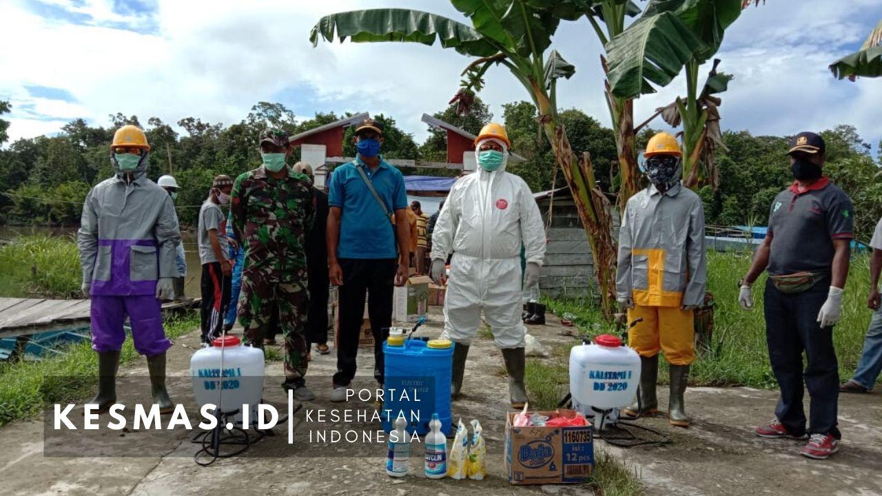 Tim Satgas Kamundan Dan Relawan Antisipasi Covid-19 Masuk Distrik Kamundan
