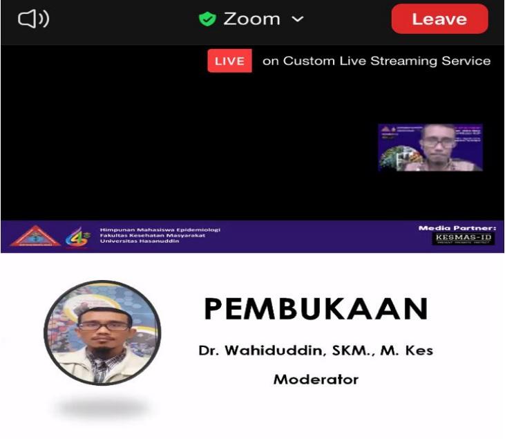 Moderator, Dr. Wahiduddin, SKM, M.Kes