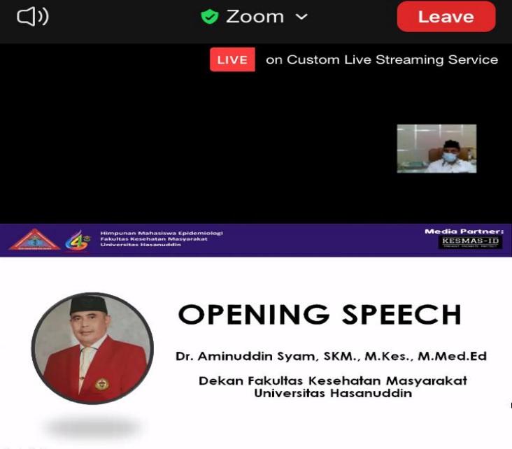 Opening Speech, Dekan FKM Unhas