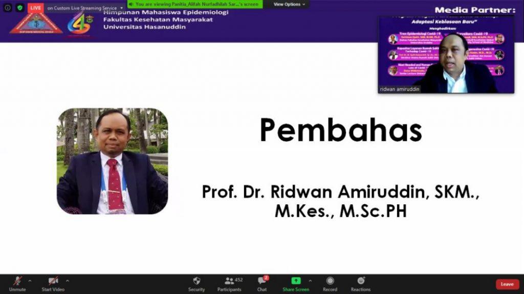 Pembahas Prof Dr. Ridwan Amiruddin, SKM, M.Kes, M.Sc PH