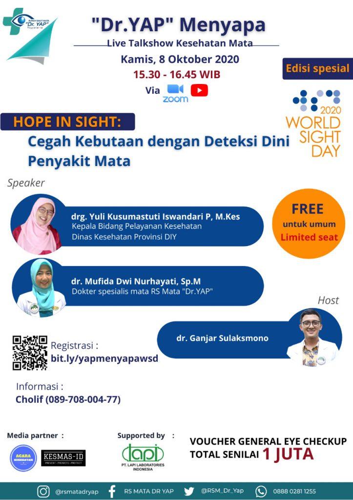 Edisi Spesial World Sight Day 2020, RS Mata YAP Yogyakarta, Poster