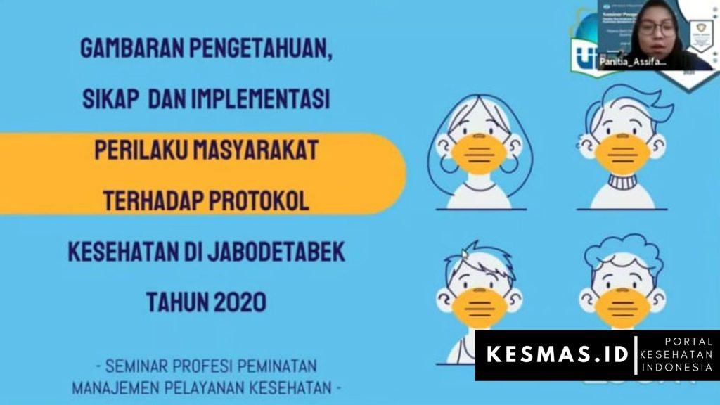 Gambaran Pengetahuan, Sikap dan Implementasi Perilaku Masyarakat Terhadap Protokol Kesehatan di Jabodetabek