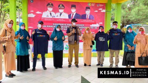 HKN Ke 56, Dinas Kesehatan Enrekang Bagi 37 Ribu Masker Untuk Masyarakat