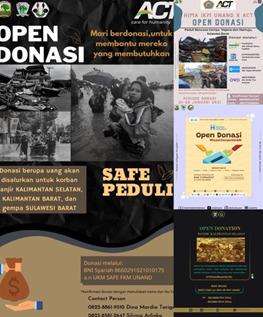 Peduli Korban Banjir Kalimantan Selatan, Kalimantan Barat, dan Gempa Sulawesi Barat, Lembaga KM FKM Unand Open Donasi