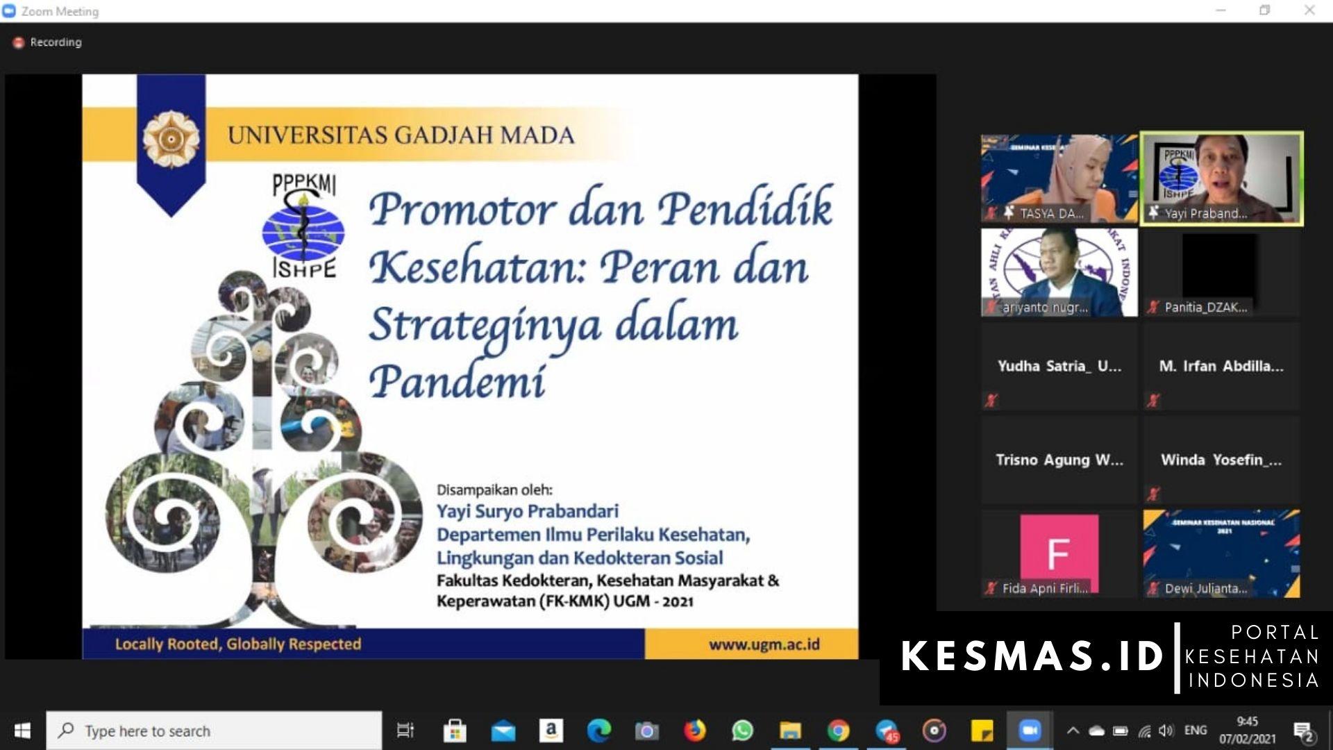 Seminar Nasional Kebijakan Pemerintah dan Peran Tenaga Kesehatan Masyarakat dalam Penanganan Covid-19