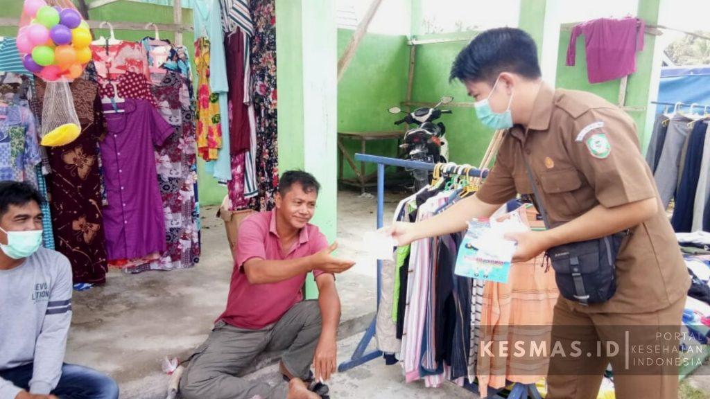 Edukasi 3M Lawan Covid Puskesmas Bagendang