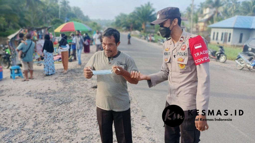 Kampanye Disiplinn Protokol Kesehatan di Pasar Desa Sei Ijum Raya