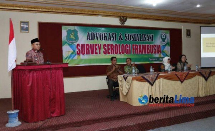 Cegah Serologi Frambusia, Dinkes Sumenep Gelar Advokasi Dan Sosialisasi