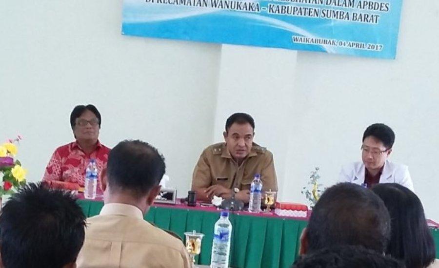 Wakil Bupati Ini, Minta Desa Alokasikan Dana Kesehatan 10 Persen