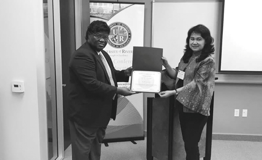 Dekan FKM Kampus Ini Jadi Presenter pada Global Conference on Education di Riverside University California USA