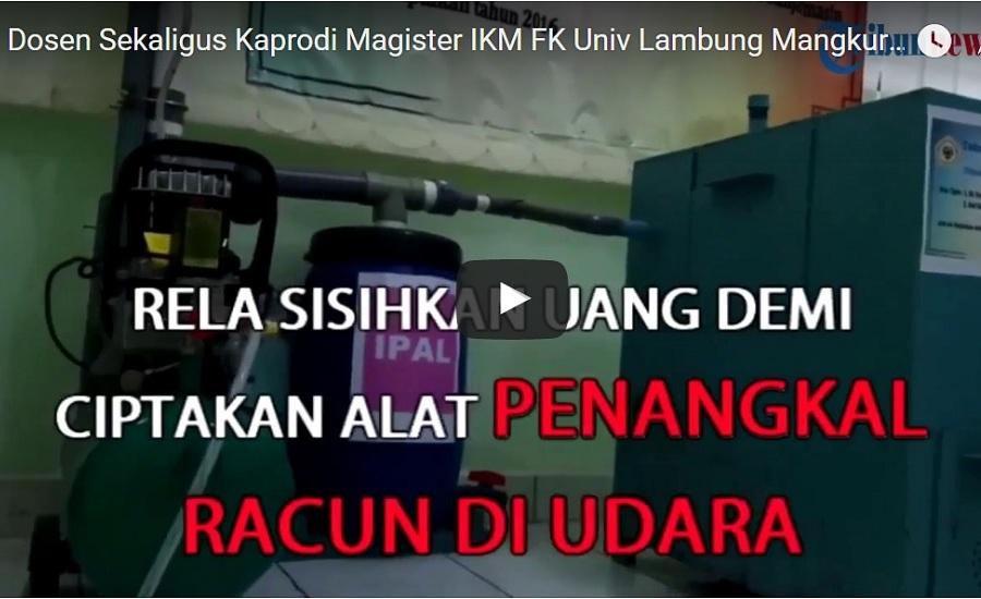 Dosen Sekaligus Kaprodi Magister IKM FK Univ Lambung Mangkurat Ciptakan Alat Penangkap Polutan
