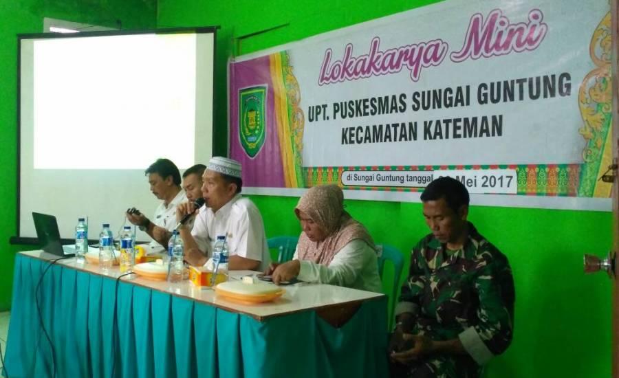 UPT Puskesmas Sungai Guntung Gelar Lokmin Lintas Sektoral