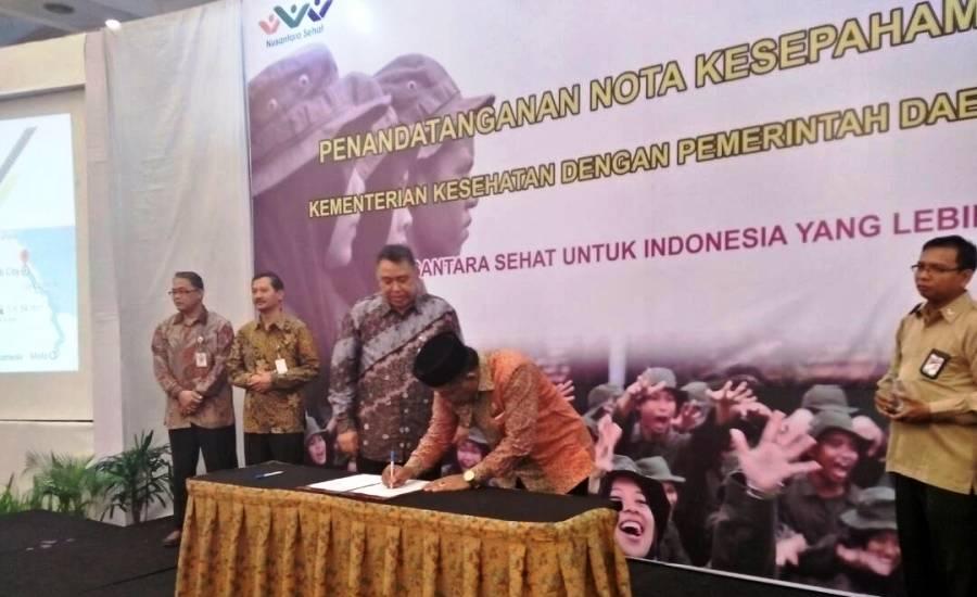 Wabup Rohil Teken MOU Program Nusantara Sehat