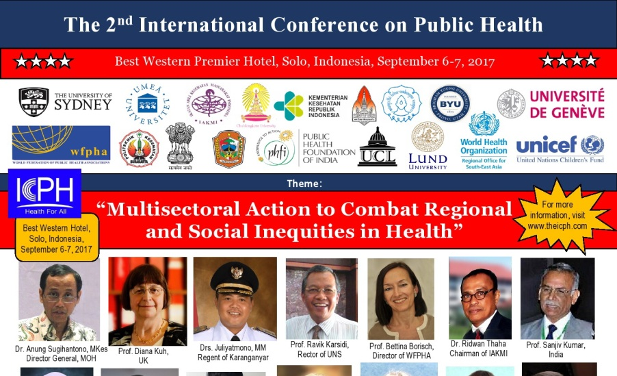 INTERNATIONAL CONFERENCE ON PUBLIC HEALTH 2017 - Cover