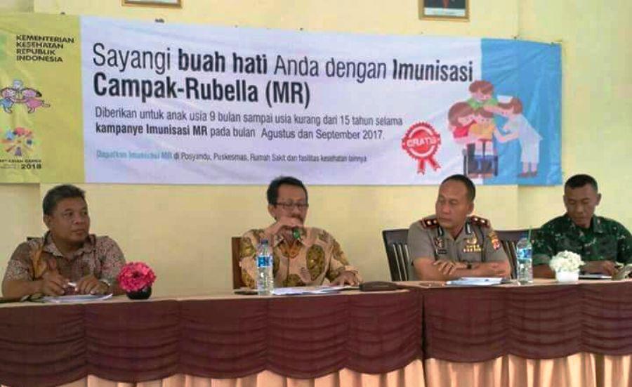 Puskesmas Sukagumiwang Gelar Rakor Tingkat Kecamatan Tentang Kampanye MR