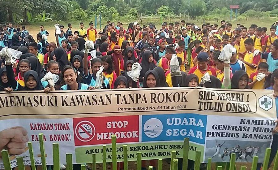 Evaluasi KTR di Sekolah SMPN 1 Tulin Onsoi Nunukan Kalimantan Utara