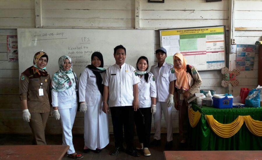 Pelaksanaan Bulan Imunisasi Anak Sekolah di Wilayah Kerja Puskesmas Sanur Tulin Onsoi