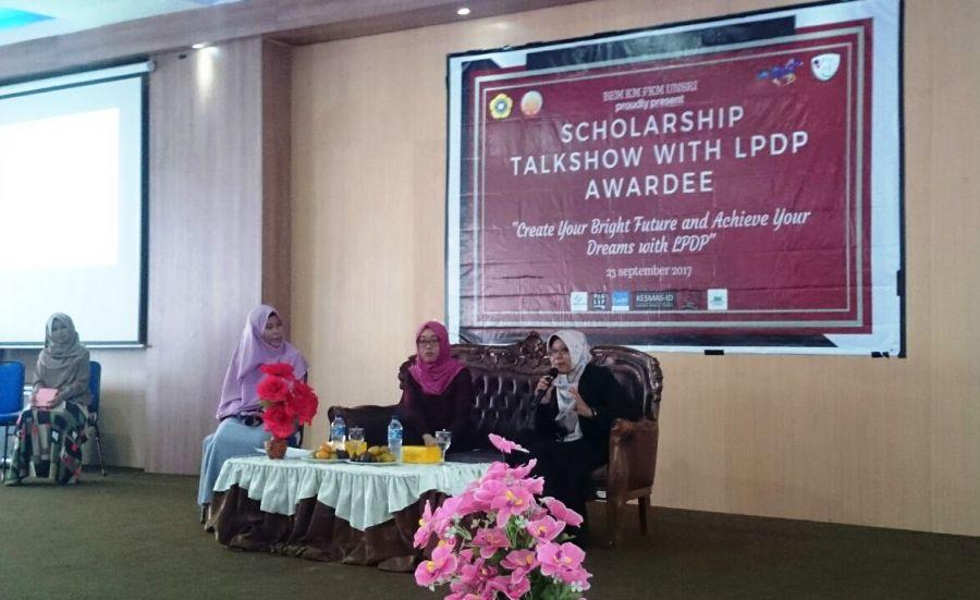 Punya Mimpi Kuliah Gratis di Luar Negeri BEM KM FKM Unsri Gelar Talkshow LPDP Bersama Alumni