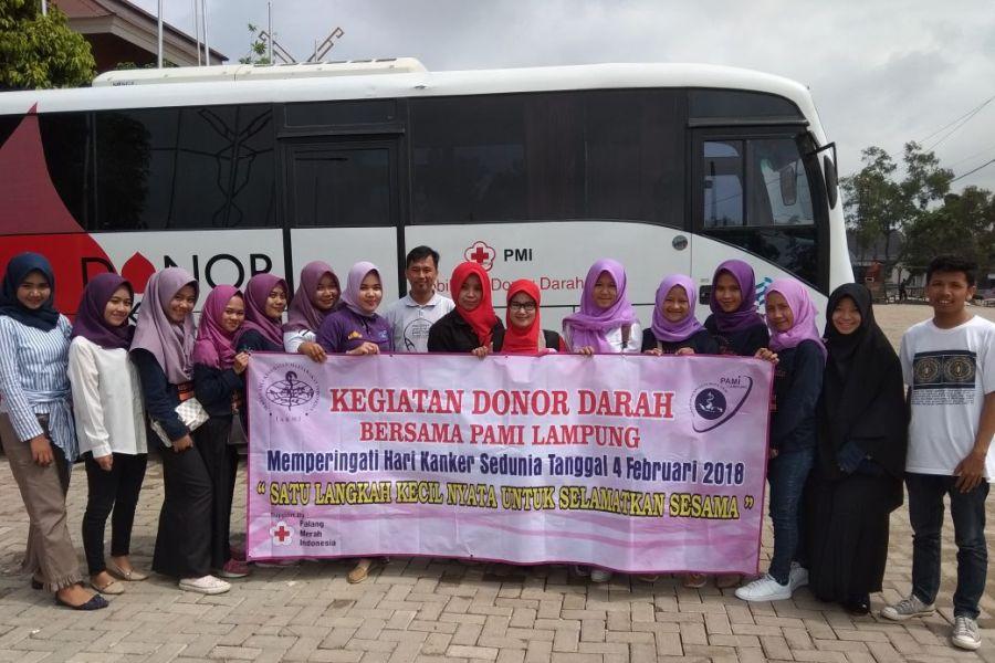 Peringati Hari Kanker, PAMI Lampung Lakukan Aksi Donor Darah di PKOR Way Halim