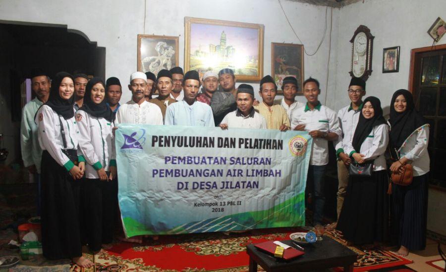 Warga Desa Apresiasi SPAL Komunal Buatan Mahasiswa Kesehatan Masyarakat Universitas Lambung Mangkurat
