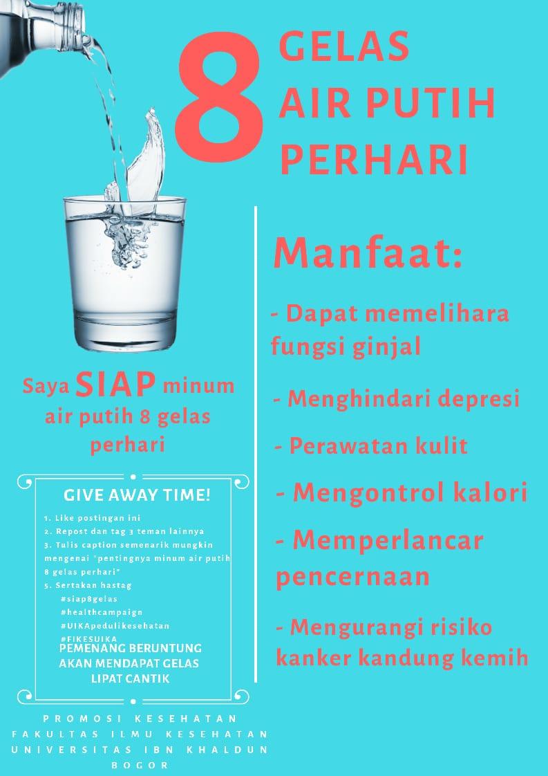 Ini Lho Manfaat Minum Air Putih 8 Gelas Per Hari