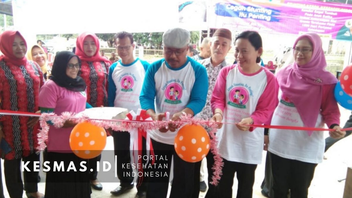 Dinkes Kab Bangka Launching Pos Pencegahan Stunting Seribu Hari Pertama Kehidupan di Mendo Barat