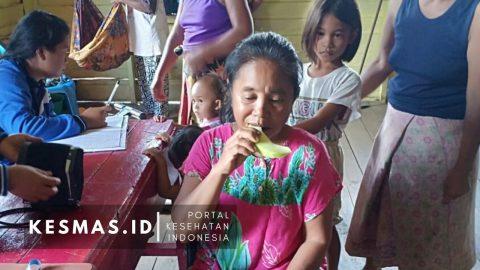 GERMAS, Puskesmas Sanur Ajak Masyarakat Makan Buah & Sayur di Posbindu