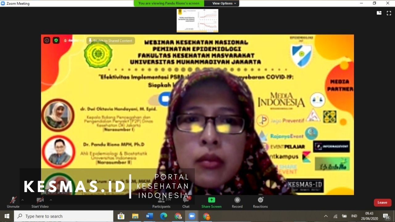 Press Release Webinar Epidemiologi 2020 FKM UMJ