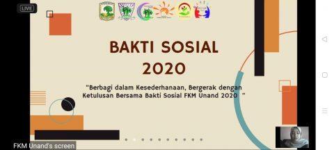 BEM KM FKM Unand Adakan Bakti Sosial Ditengah Pandemi Covid-19