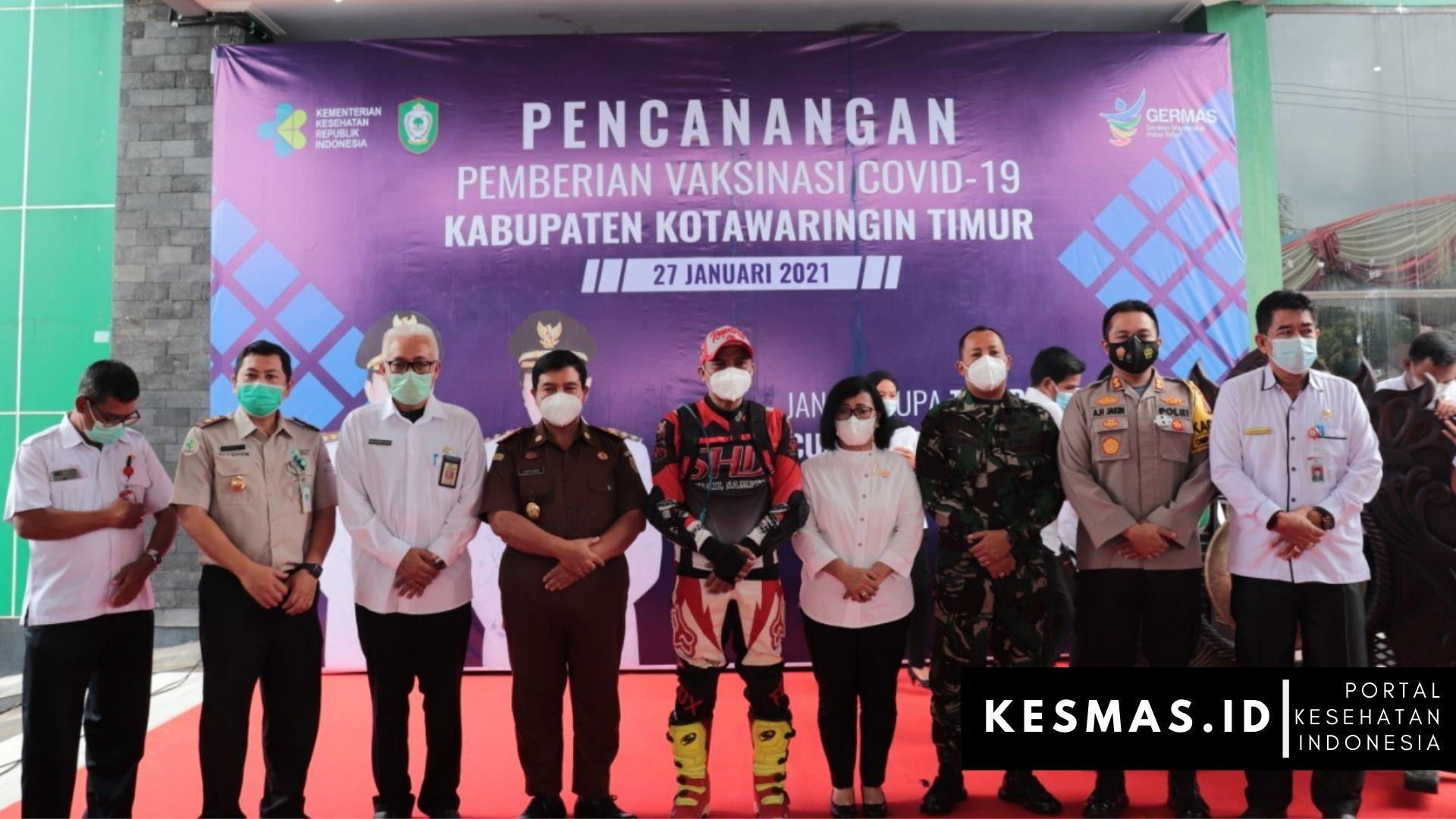 Pencanangan Vaksinasi Covid-19 di Kabupaten Kotim