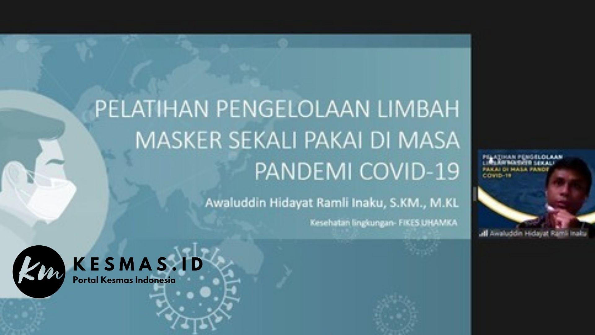 Pelatihan Pengelolaan Limbah Masker Sekali Pakai di Masa Pandemi COVID-19 Pada Ibu Rumah Tangga